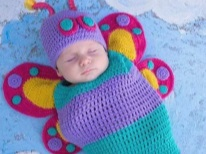 Пеленка-кокон для новорожденных вязаная крючком