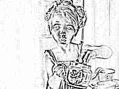 Ребенок разливает чай