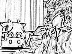Компрессорный ингалятор корова для детей