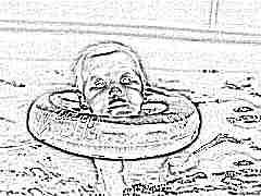 Круг на шею для купания новорожденных