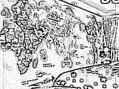 """Фотообои """"Карта мира"""" для детей на стену"""