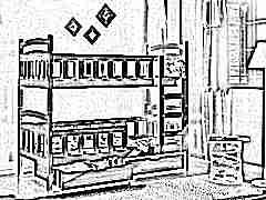 Двухъярусная кровать для детей с бортиками