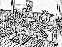 Детский стол на день рождения ребенка 7-10 лет