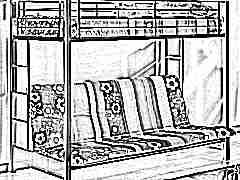 Детские двухъярусные кровати с диваном