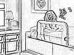 Диван-кровать с бортиками для детей