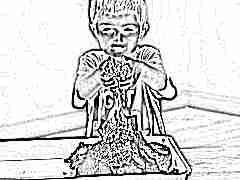 Пластилин-песок для детей