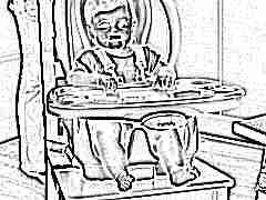 Сиденье на стул для кормления ребенка