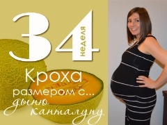 34 неделя беременности: что происходит с плодом и будущей мамой?