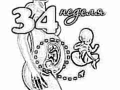 Развитие плода на 34 неделе беременности