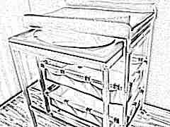 Пеленальный столик с ванночкой: особенности и выбор