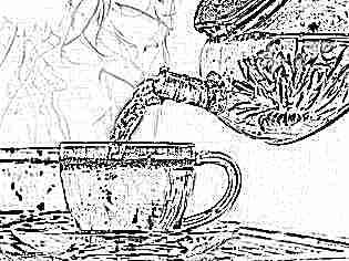 Красивый чай с цветком