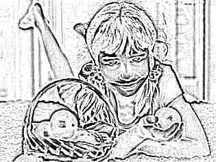 Девочка с мандаринами