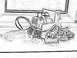 Компрессорный ингалятор детский паровозик
