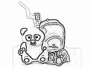 Компрессорный ингалятор детский панда