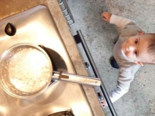 Температура после ожога кипятком ребенка