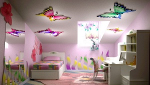 Натяжные потолки для детской комнаты девочки