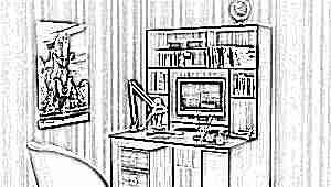 Письменный стол с ящиками для школьника