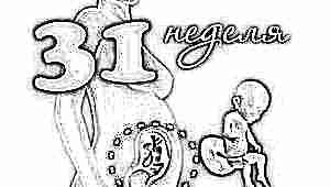 Развитие плода на 31 неделе беременности