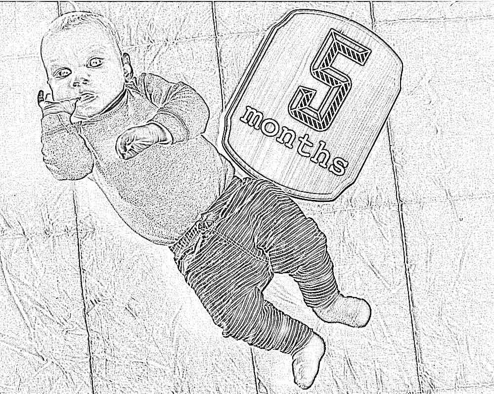 Картинка с 5 месяцами ребенка поздравления девочке