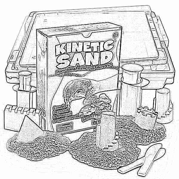 Кинетический песок из чего сделан