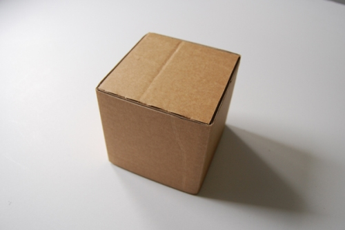 Как сделать кубик из коробки