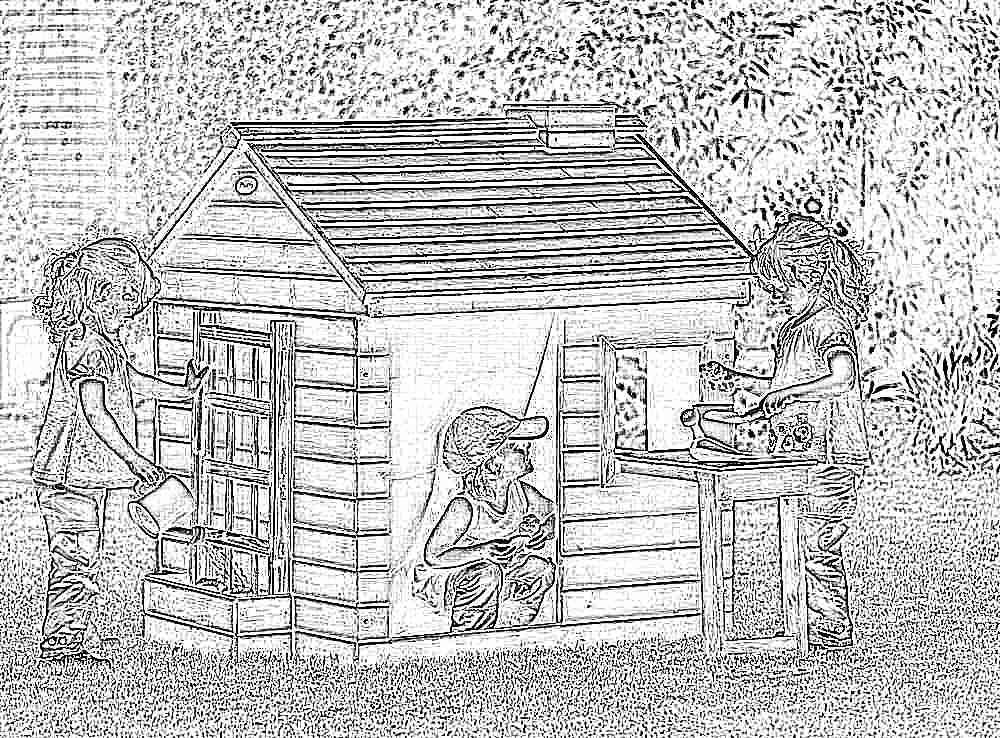 Детские домики уличные