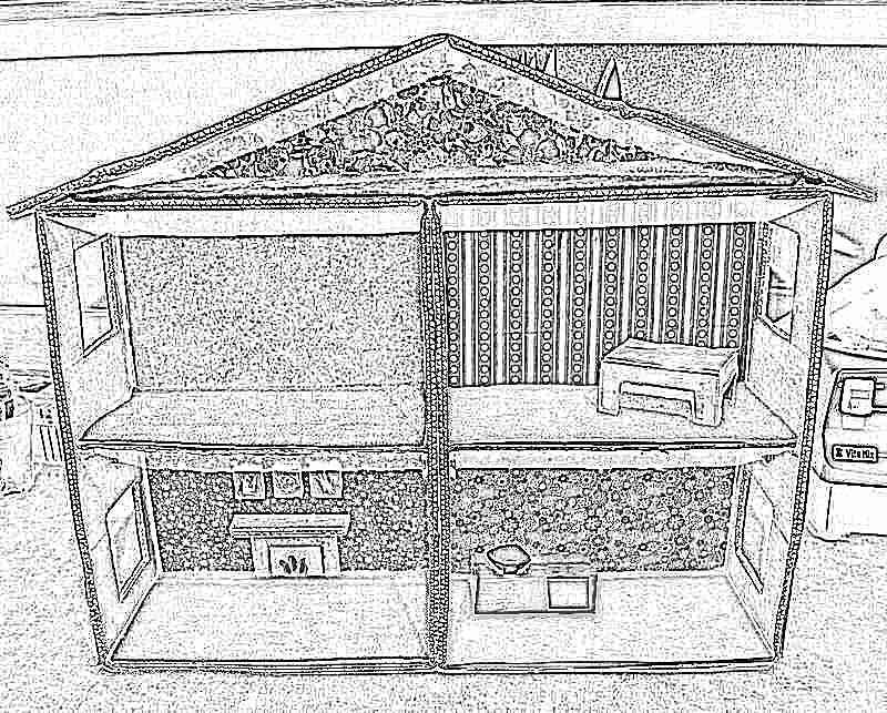 Как сделать своими руками кукольный домик из картона