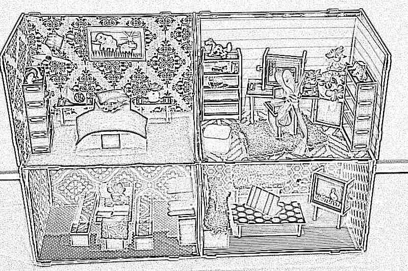 Мебель для кукольного домика своими руками 154