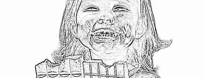 Фото как дети едят шоколад
