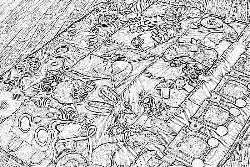 Как сделать коврик детский