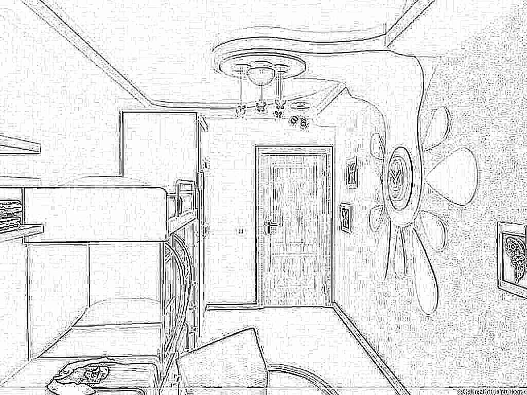 Дизайн потолка из гипсокартона фото детская - Гипсокартонные потолки всех видов-Обучение гипсокартонным