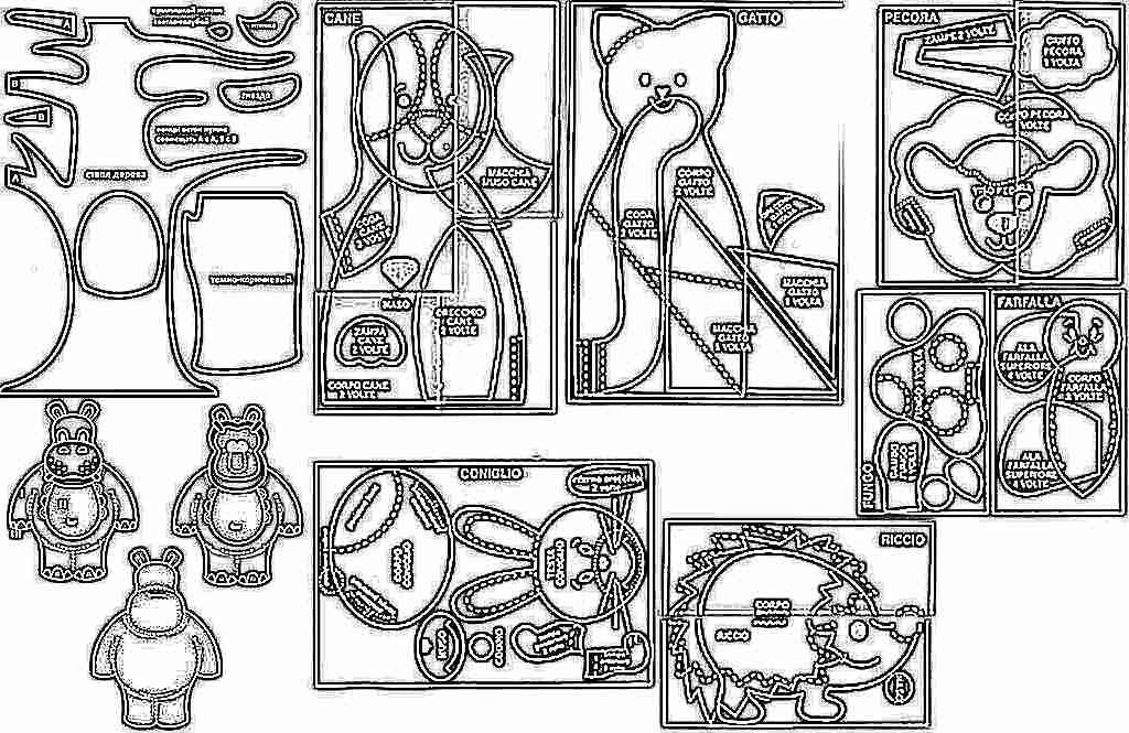Развивающие книжки из фетра для детей своими руками из ткани выкройки 71