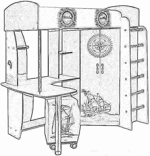 Детская кровать-чердак (165 фото): модели для девочек и мальчиков от 3 лет с рабочей зоной, со столом и шкафом 16