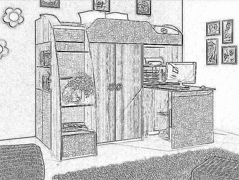 Детская кровать-чердак (165 фото): модели для девочек и мальчиков от 3 лет с рабочей зоной, со столом и шкафом 43