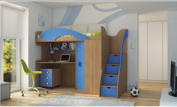 Детская кровать-чердак (165 фото): модели для девочек и мальчиков от 3 лет с рабочей зоной, со столом и шкафом 81