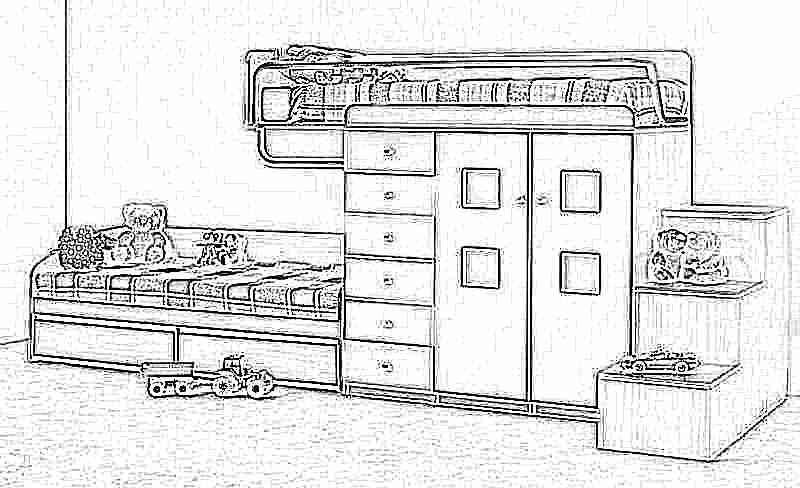Детская кровать-чердак (165 фото): модели для девочек и мальчиков от 3 лет с рабочей зоной, со столом и шкафом 37