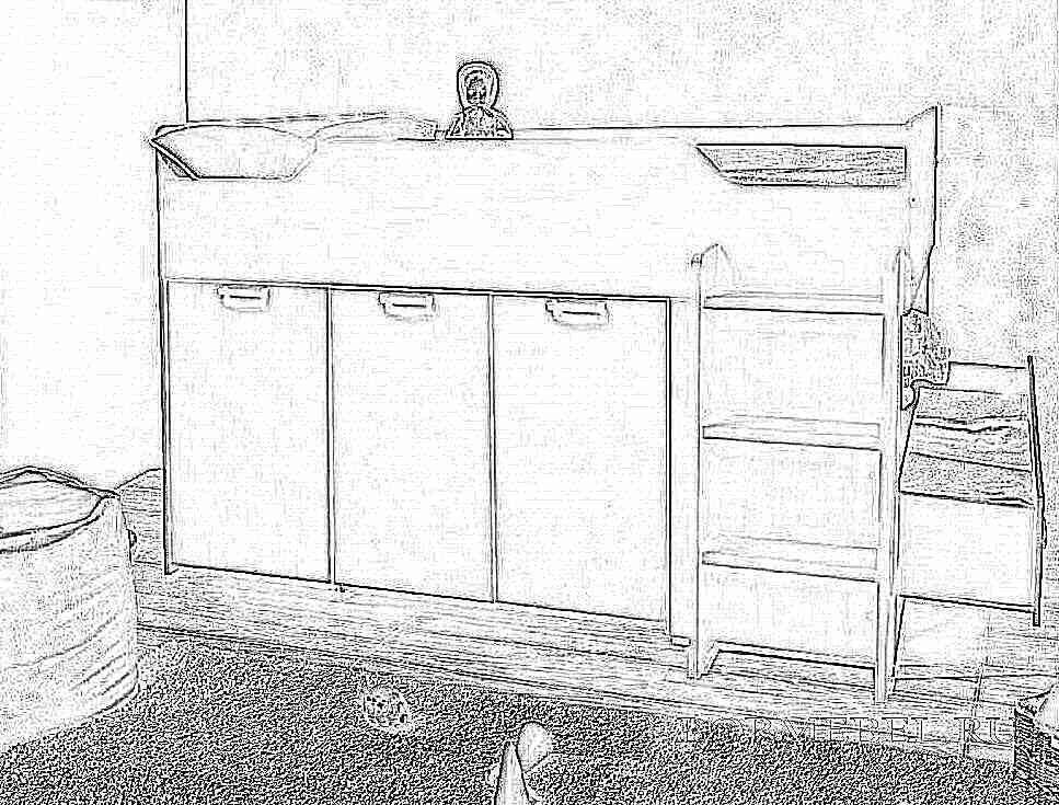 Детская кровать-чердак (165 фото): модели для девочек и мальчиков от 3 лет с рабочей зоной, со столом и шкафом 100