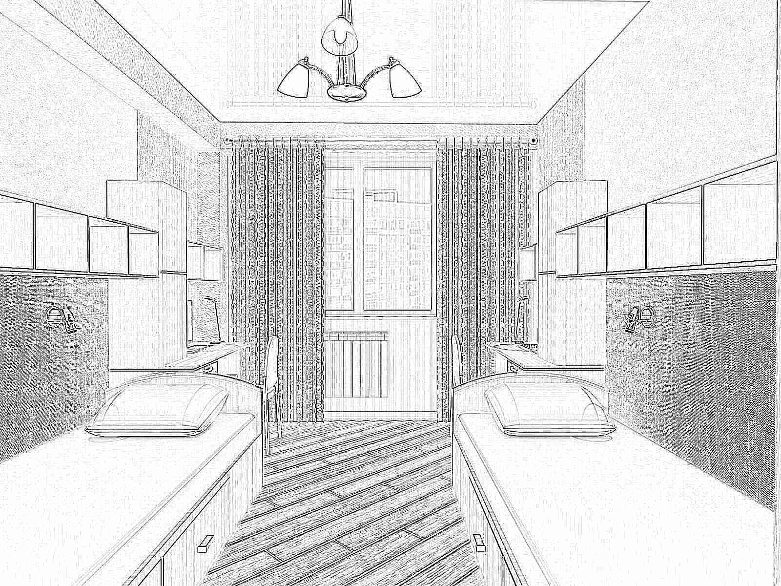 Дизайн детской комнаты 2 ребенка
