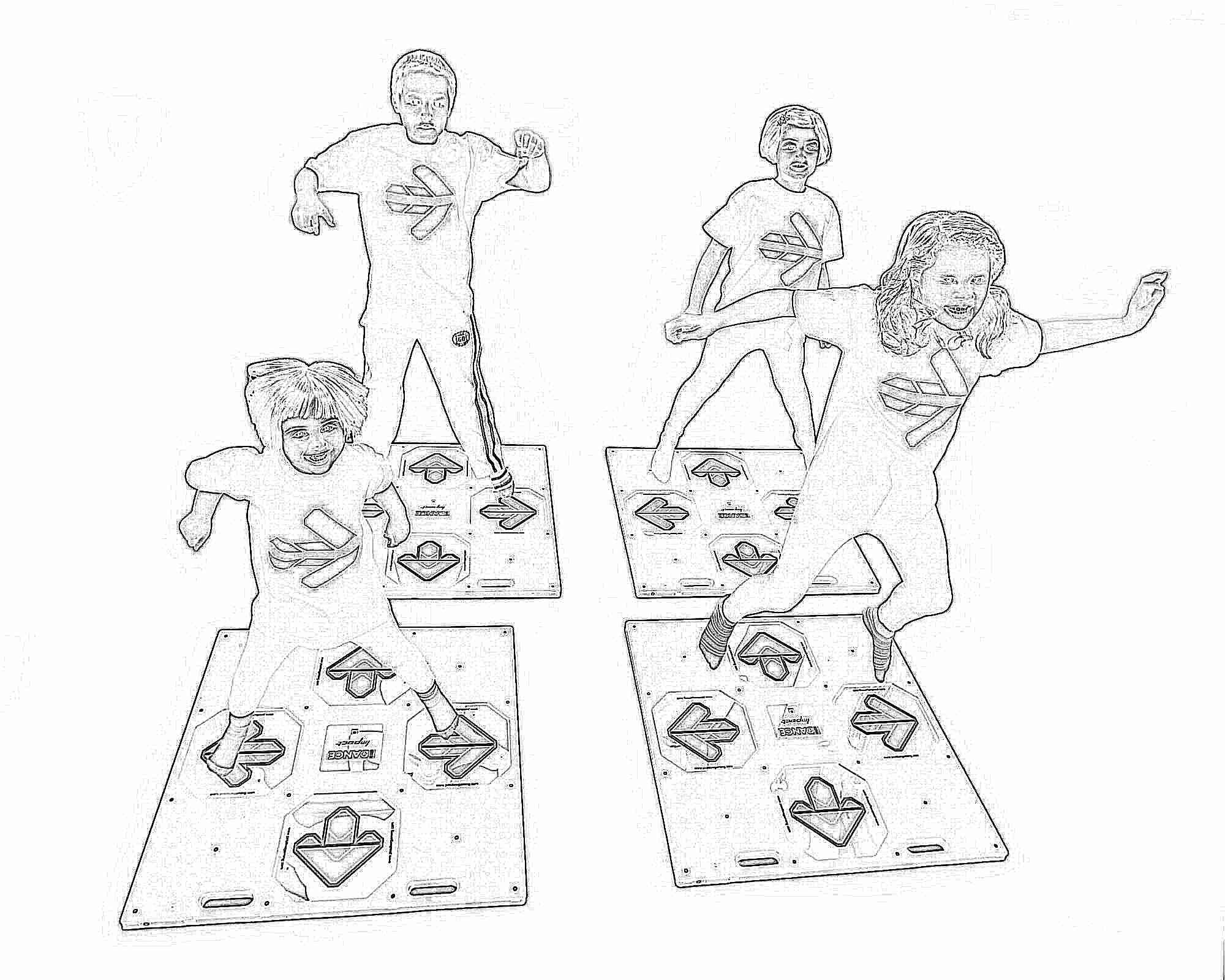 танцевальный коврик к телевизору с играми