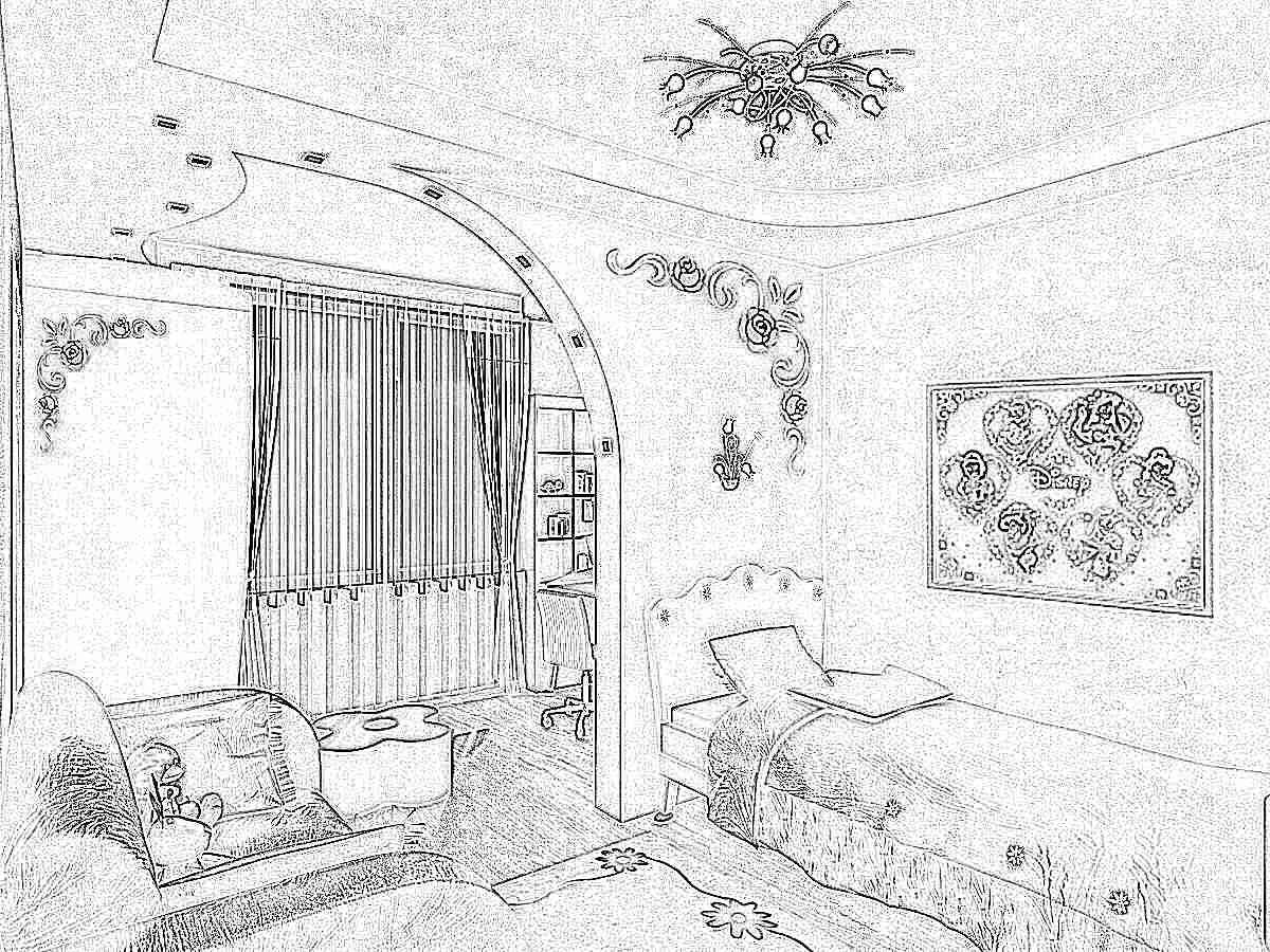Потолок из гипсокартона в детской комнате (116 фото подвесной) 88