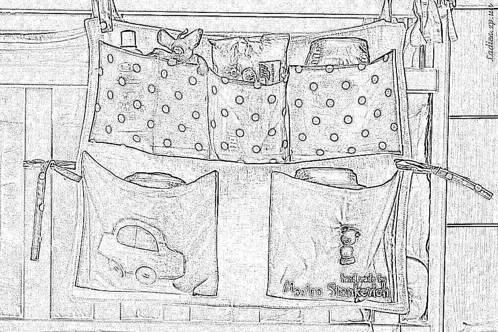 Карманы для детской кроватки сшить своими руками