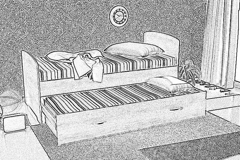 Как сделать выдвижную кровать из кровати 227