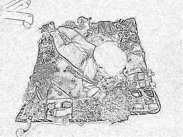 Объемный коврик для ребенка своими руками фото 554