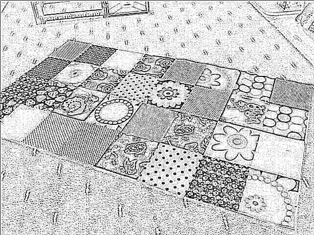 Сшить коврик в детский сад