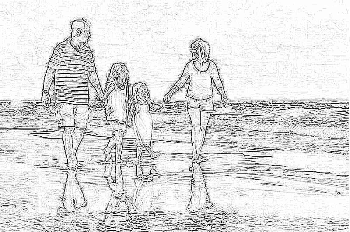 Фото семейных пар с детьми на пляже