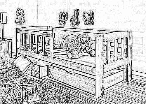 Кроватка для ребенка от 2 лет своими руками 54