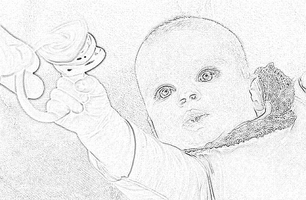 Дети от 1 месяца до 1 года фото