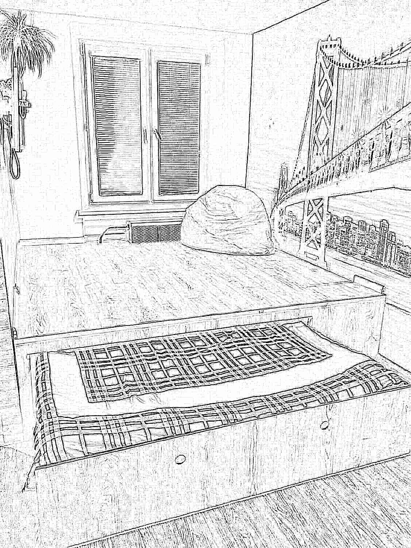 Подиум с выдвижной кроватью в квартире своими руками
