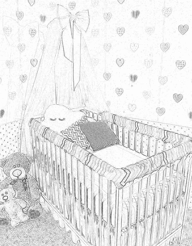 Бампер на кроватку для новорожденных своими руками 73
