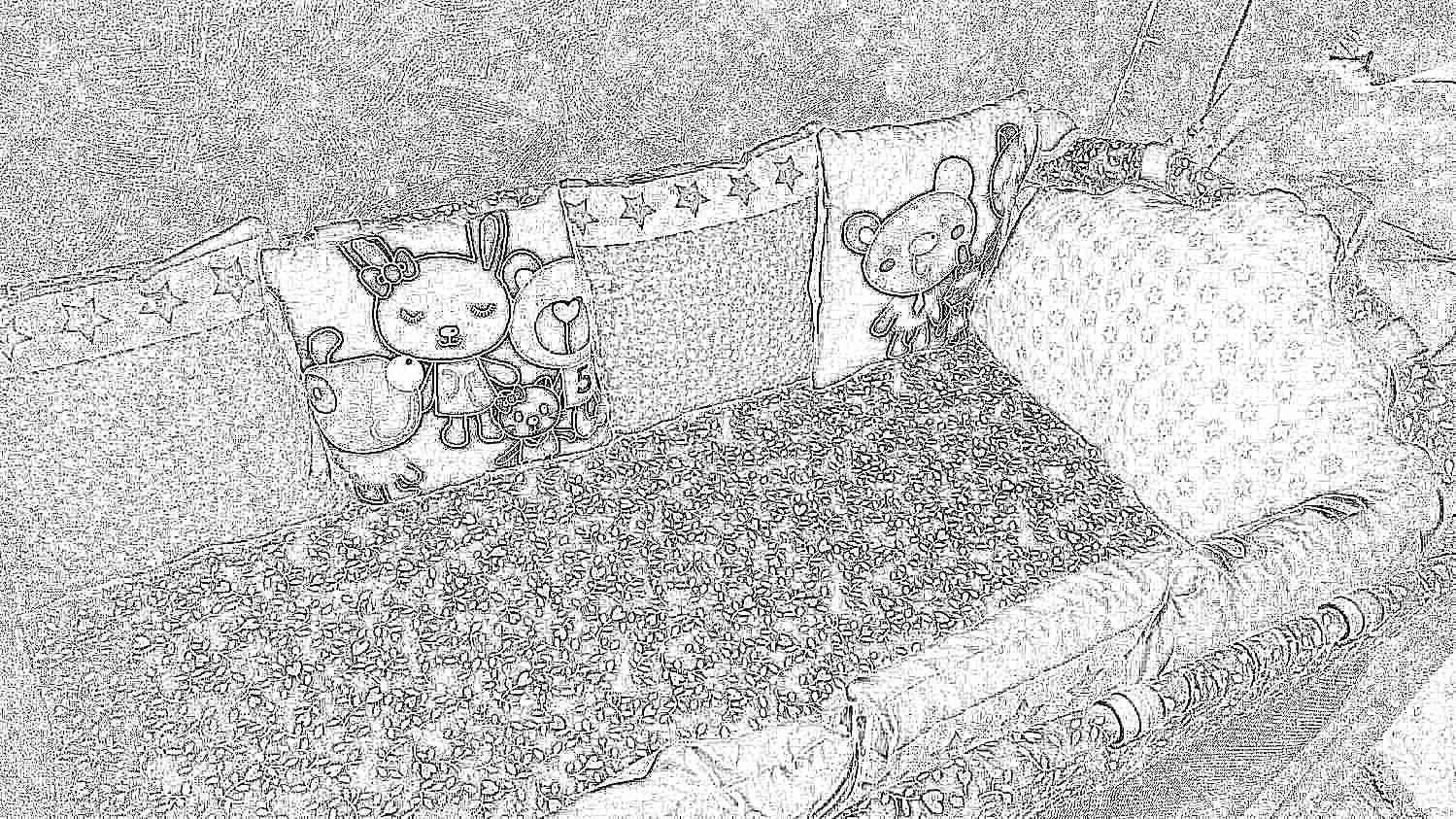 Бортики кроватку своими руками фото